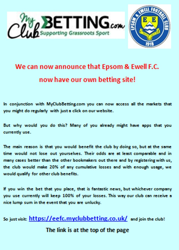 EPSOM AND EWELL FC - Your one stop resource